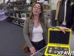 Nice-looking whore sex in shop