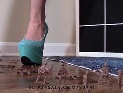 Giantess goddess lucy crushing army men high heels crush fetish lucywants