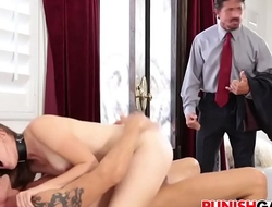 nickey huntsman Cheating slut gets double penetrated