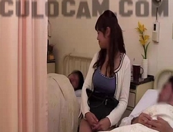 Hospital role play exhibitionist blow job large as...