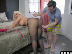 Bbw stepmom is excited and desires a youthful ramrod in her large gazoo