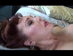 Insatiable milf sucks and presses the cock between her breast