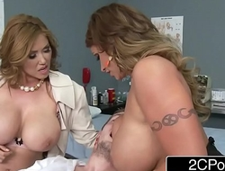 Dust-ball Kianna Dior &_ Wed Eva Notty Having a Blowjob Competition with respect to make an issue of E.R.