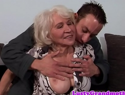 Prexy granny fucked and jizzed upstairs hairypussy