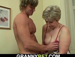 Hot-looking guy bangs grey grandma on a catch phrase