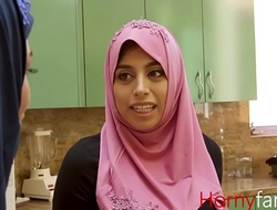 Muslim babe fucks her white stepdaddy-Ella knox