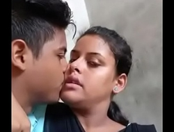 Desi university lovers hot kiss