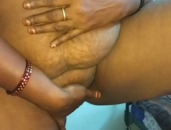 desi indian tamil telugu kannada malayalam hindi horny Married slut vanitha wearing blue colour saree identically obese soul coupled with shaved pussy unnerve hard soul unnerve nip rubbing pussy masturbation
