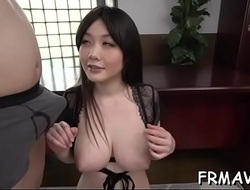 Cute japanese only gives superb oral during trine