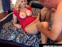 World Famous Milf Julia Ann Drilled By 2 Lucky Cocks!