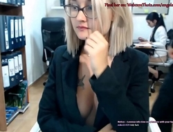 Blonde Cam Thot Caught By Nabob Masturbating Live Up ahead be fitting of Coworker