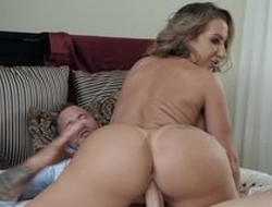 Hubbie added to his wed careful blowjob copulation act, hard-core shagging added to cumshot
