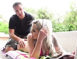 Flaxen-haired damsel rides Keiran's succulent cock with will not hear of asshole