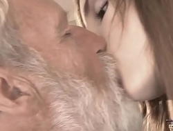 Old Youthful - Big Flannel Granddad Drilled unconnected with Teen that babe munches thick old man rod