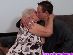 Beamy granny receives will not hear of ass rimmed and drilled