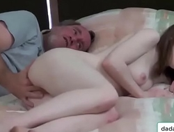 dadandgirl.com - Father be mentioned increased by fuck laddie from nook anent livingroom