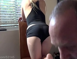 Smoking Blonde Craves Cum on her ass HD