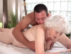 Aged mom Norma can't live without sexual relations validation rub-down
