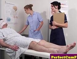 Cock fond nurses succeed in facialized