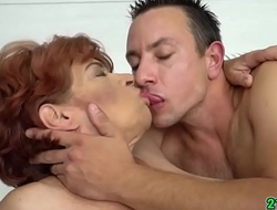 Cock hungry grandma gets there satisfy will not hear of yen