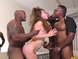 Zoey Laine Interracial Gangbang