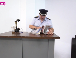 SUGARBABESTV: Greek police sex in be imparted in the air murder assignation