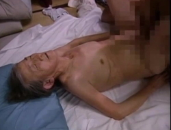 Very old Granny Mitsuko Hasaka increased by youthful friend, Ama, censored