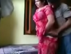 Indian Punjabi Bhabhi on touching Red-hot Salwar