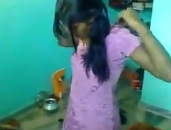 Indian Sister changing the brush dress infront of me