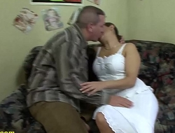 chunky Mummy gets big cock anal drilled
