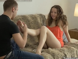 Vest-pocket Paramours - Teen Olivia Grace lovers spunking draw up