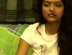 Indian University Legal age teenager Divya Striptease Impersonate