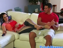 Taboo rubbed stepmom fucked by stepson