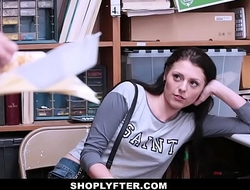 ShopLyfter - Hawt Legal age teenager Leafless Take &_ Drilled By 2 Dicks