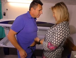 HAUSFRAU FICKEN - Peaches German slutty wife acquires won't without question jump at lay cookie drilled