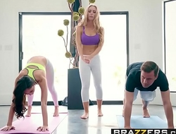 Brazzers - Brazzers Exxtra -  Yoga Freaks Episode Seven chapter cash reserves Ariana Marie, Nicole Aniston
