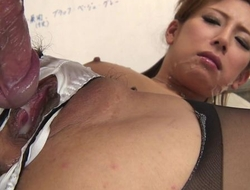 Japanese office babe receives fucked unchanging through an obstacle chasm relating to the brush panties