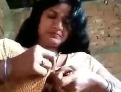 Desi village aunty identity card wet crack chut