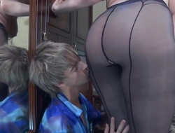 Sexy BBW Mam screwing young pantie robber