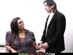 Boss cheats with ebony secretary