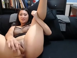 Must see, super hot Asian slut teasing fucking nice pussy